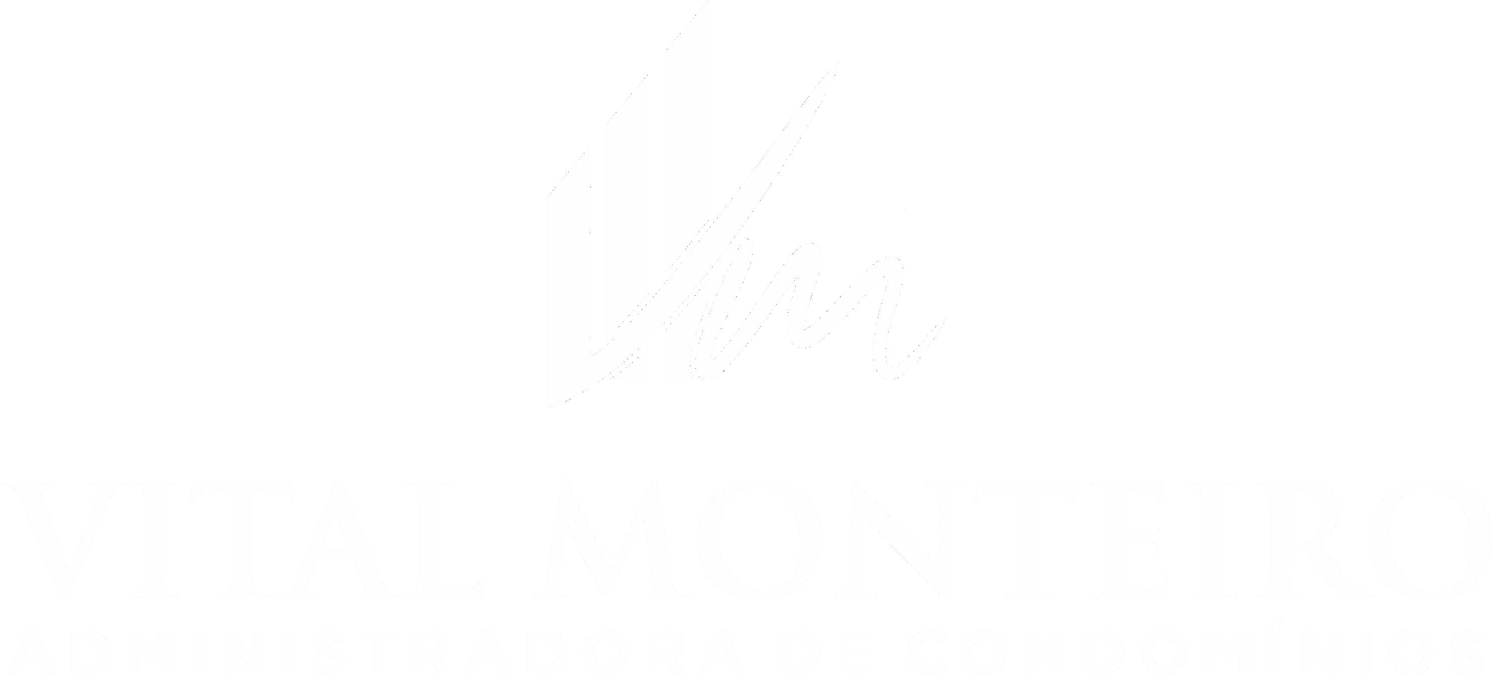 Logo Vital Monteiro Branca